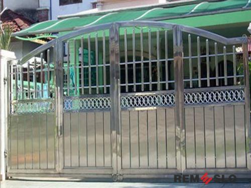 Ворота из нержавеющей стали №9