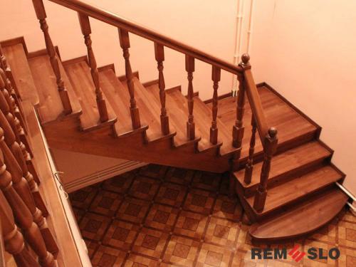 Деревянная лестница №15