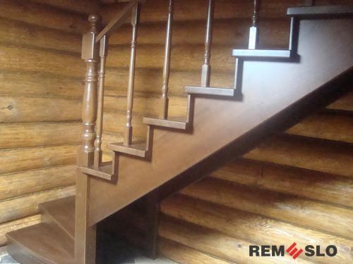 Деревянная лестница №16