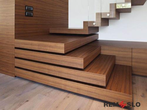 Деревянная лестница №21