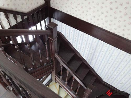 Деревянная лестница №22