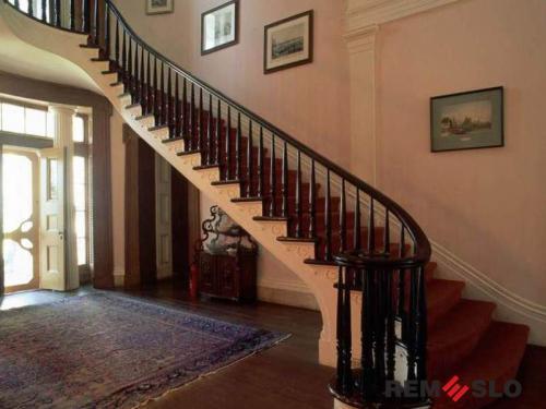 Деревянное ограждение лестницы №13