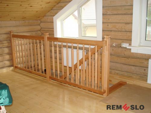 Деревянное ограждение лестницы №17