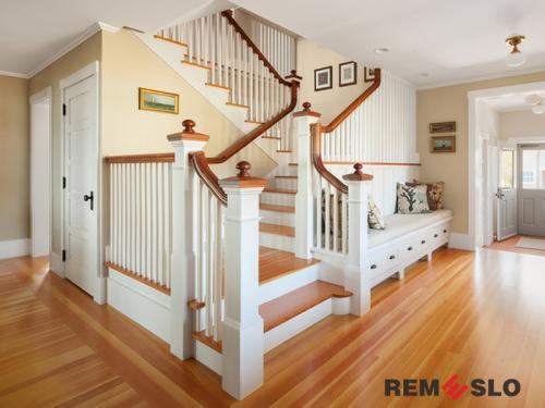 Деревянное ограждение лестницы №29