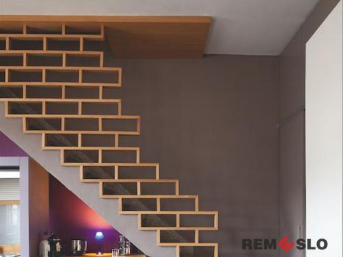 Деревянное ограждение лестницы №8