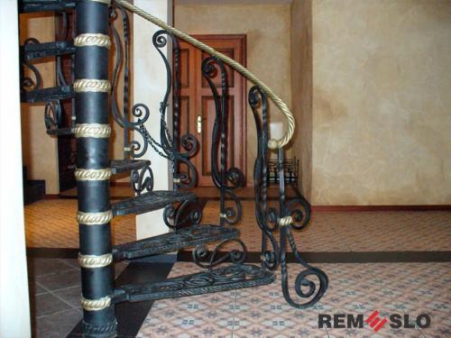 Кованая лестница №14