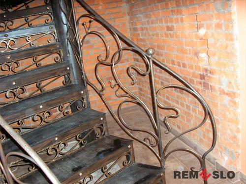 Кованая лестница №15