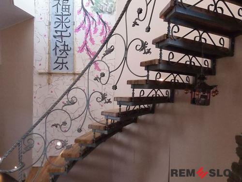 Кованая лестница №21