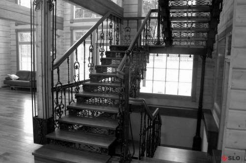 Кованая лестница №4