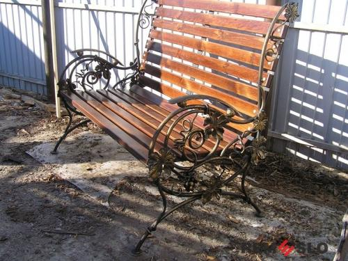 Кованая скамейка №10