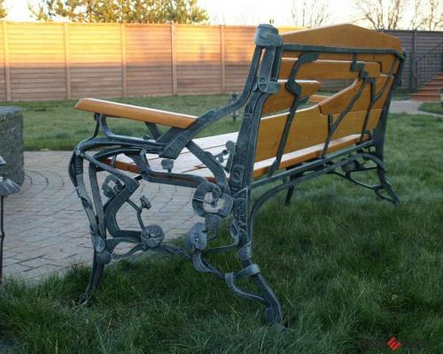 Кованая скамейка №15