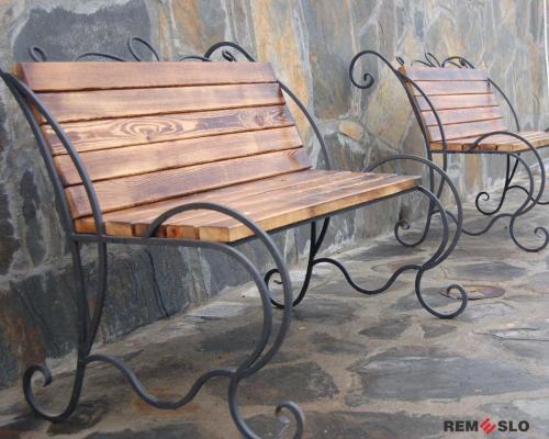 Кованая скамейка №22