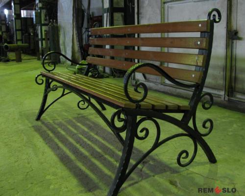 Кованая скамейка №25