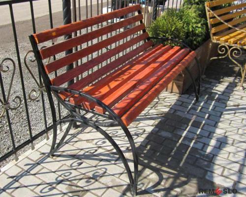 Кованая скамейка №26