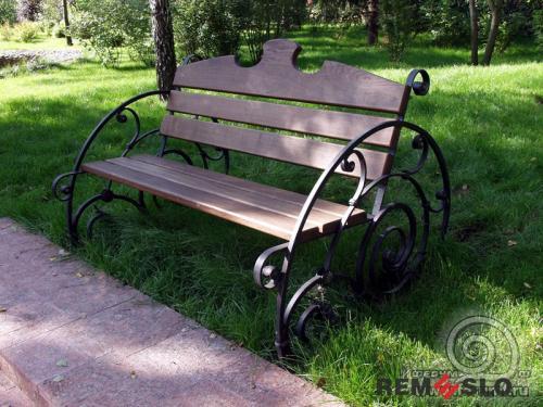 Кованая скамейка №27