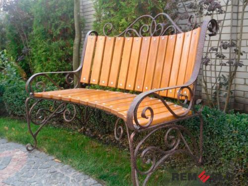 Кованая скамейка №28