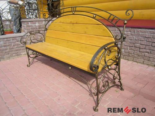 Кованая скамейка №29