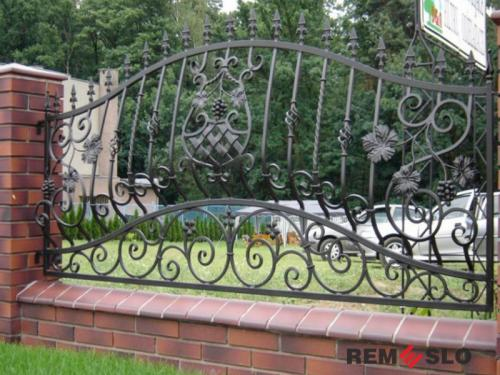 Кованый забор №19