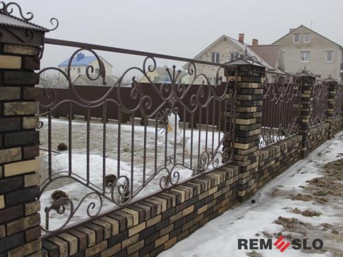 Кованый забор №30