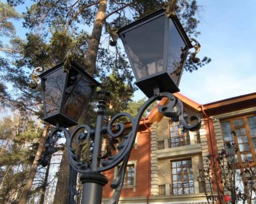 Кованый фонарь №17