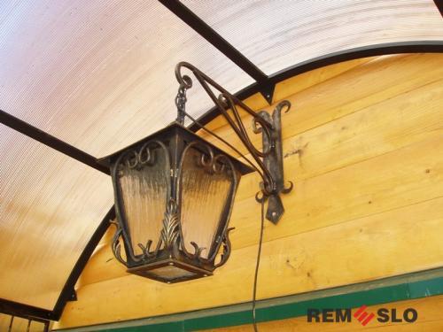 Кованый фонарь №21