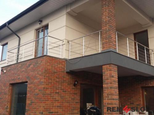 Ограждение балкона из нержавеющей стали №10