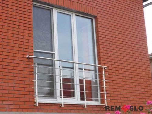 Ограждение балкона из нержавеющей стали №13