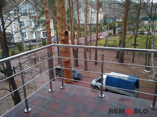 Ограждение балкона из нержавеющей стали №14