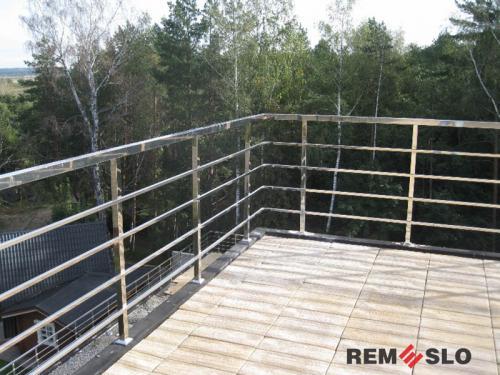 Ограждение балкона из нержавеющей стали №15