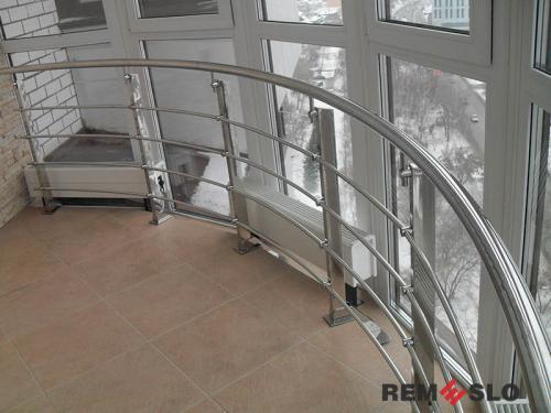 Ограждение балкона из нержавеющей стали №21