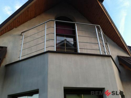 Ограждение балкона из нержавеющей стали №24
