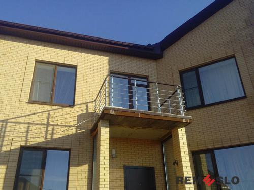 Ограждение балкона из нержавеющей стали №27