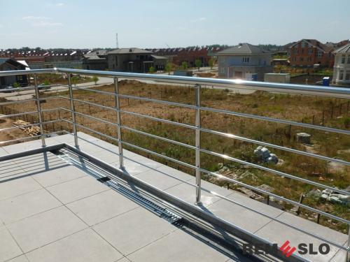 Ограждение балкона из нержавеющей стали №28