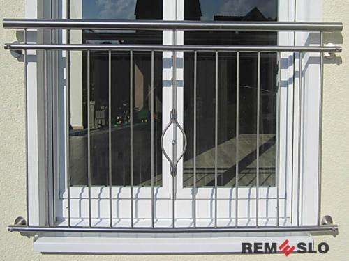 Ограждение балкона из нержавеющей стали №29