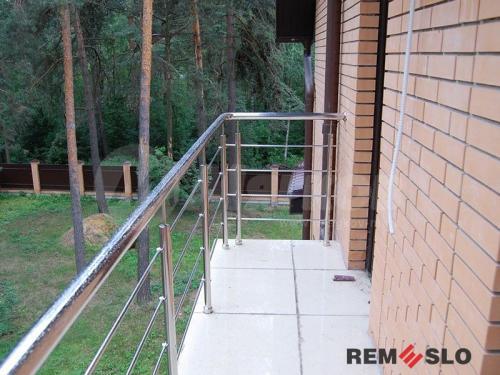 Ограждение балкона из нержавеющей стали №7