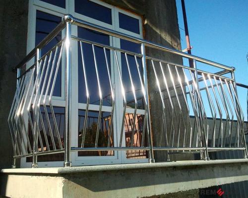 Ограждение балкона из нержавеющей стали №8