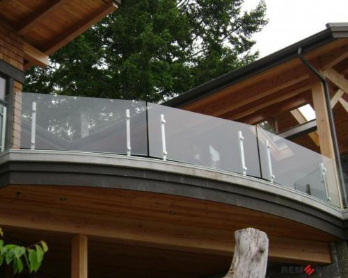 Ограждение балкона из стекла №10
