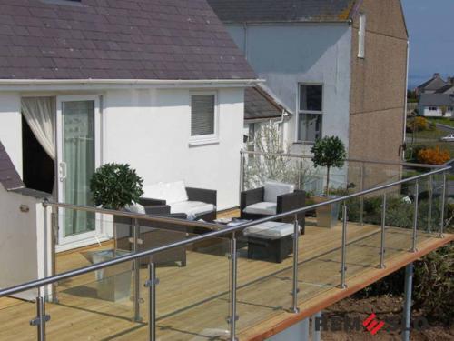 Ограждение балкона из стекла №22