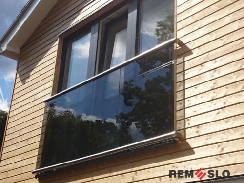 Ограждение балкона из стекла №25