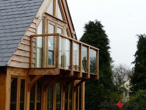 Ограждение балкона из стекла №28
