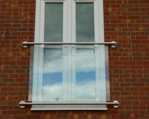 Ограждение балкона из стекла №29