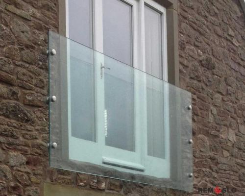 Ограждение балкона из стекла №7