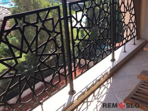 Ограждение балкона с лазерной резкой №1