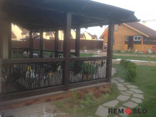 Ограждение балкона с лазерной резкой №13