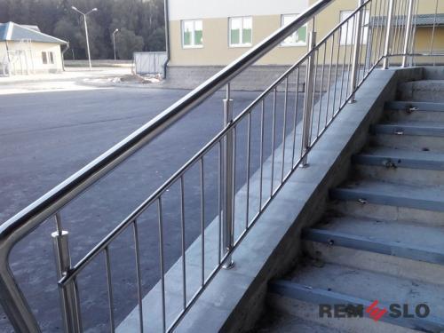 Ограждения лестниц из нержавеющей стали №014