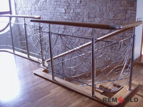 Ограждения лестниц из нержавеющей стали №016