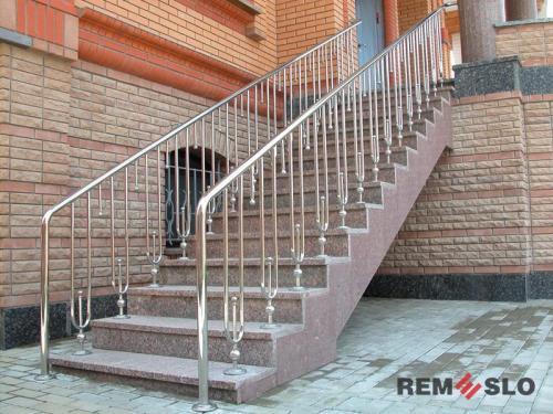 Ограждения лестниц из нержавеющей стали №018