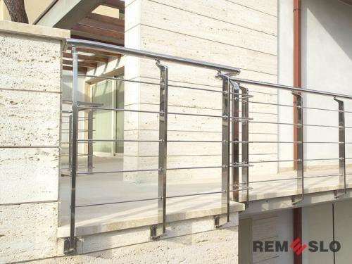 Ограждения лестниц из нержавеющей стали №023