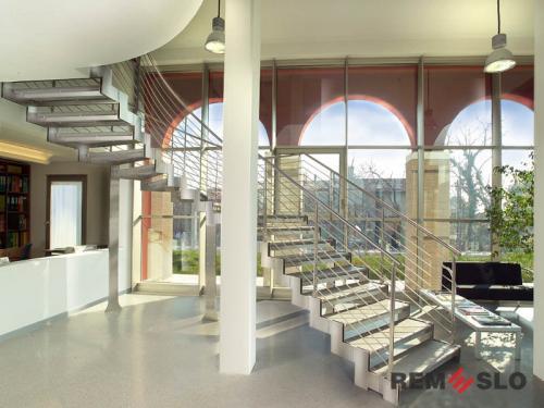 Ограждения лестниц из нержавеющей стали №025