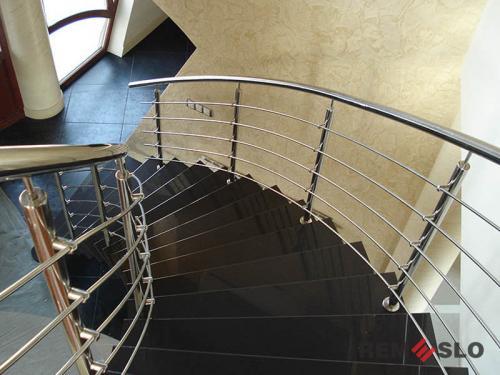 Ограждения лестниц из нержавеющей стали №029